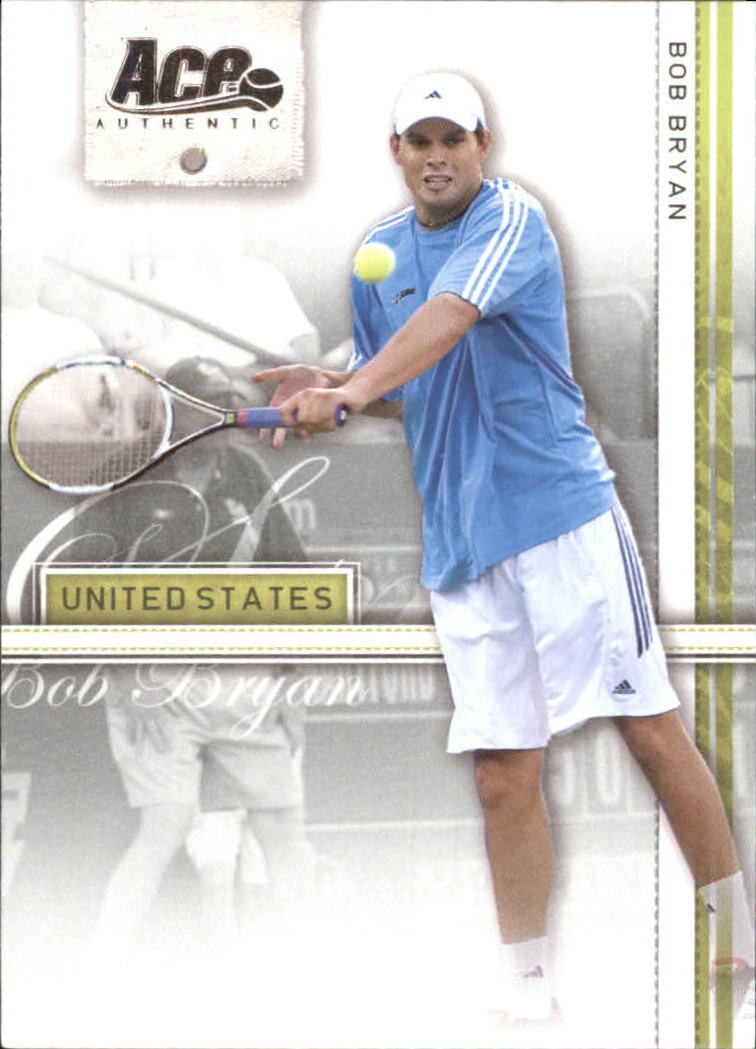 2007 Ace Authentic Straight Sets #9 Bob Bryan