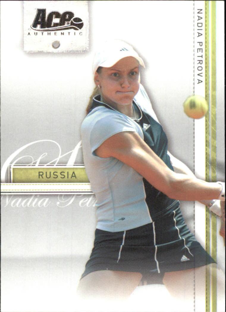 2007 Ace Authentic Straight Sets #27 Nadia Petrova