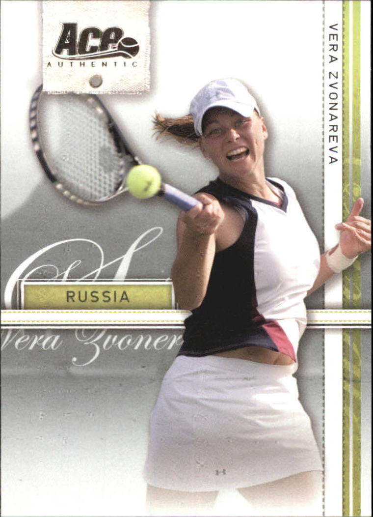 2007 Ace Authentic Straight Sets #38 Vera Zvonareva TP