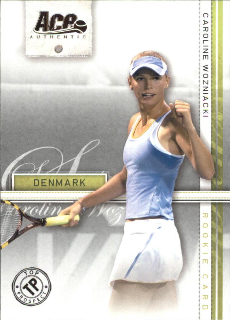 2007 Ace Authentic Straight Sets #39 Caroline Wozniacki TP RC