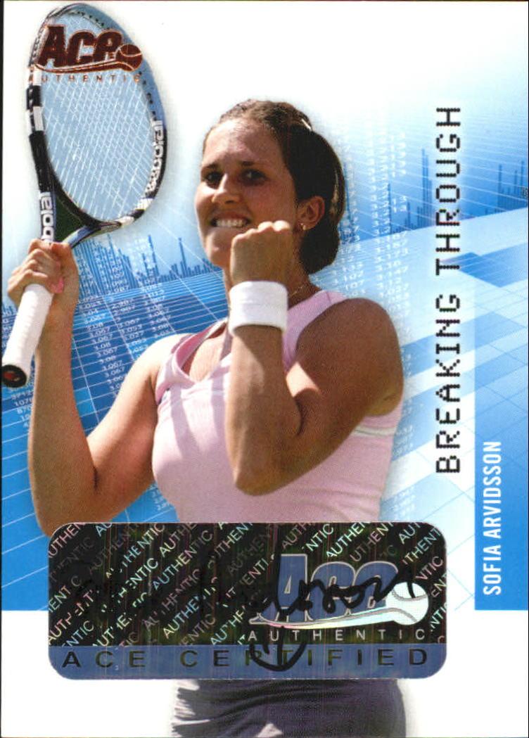 2008 Ace Authentic Grand Slam Breaking Through Autographs Bronze #BT2 Sofia Arvidsson
