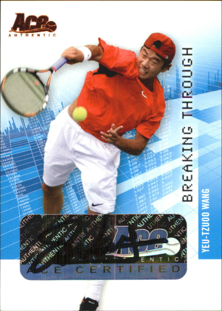 2008 Ace Authentic Grand Slam Breaking Through Autographs Bronze #BT29 Yeu-Tzuoo Wang