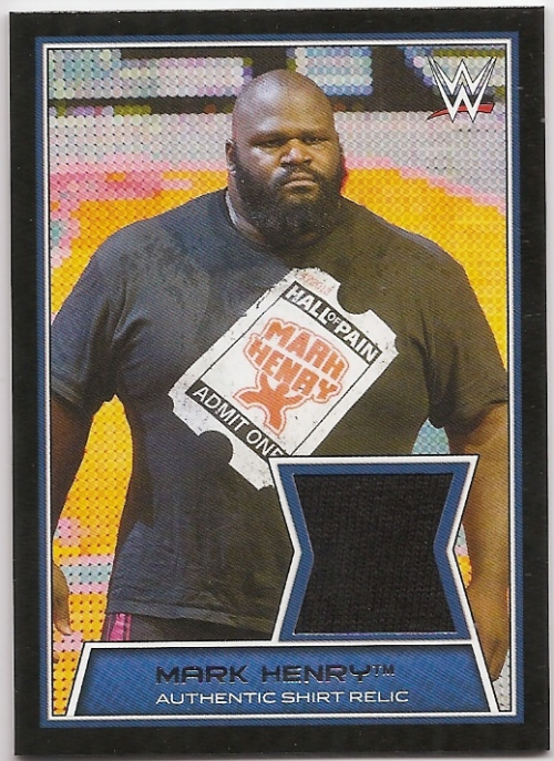 2014 Topps WWE Road to Wrestlemania Swatch Relics #MH Mark Henry (shirt)