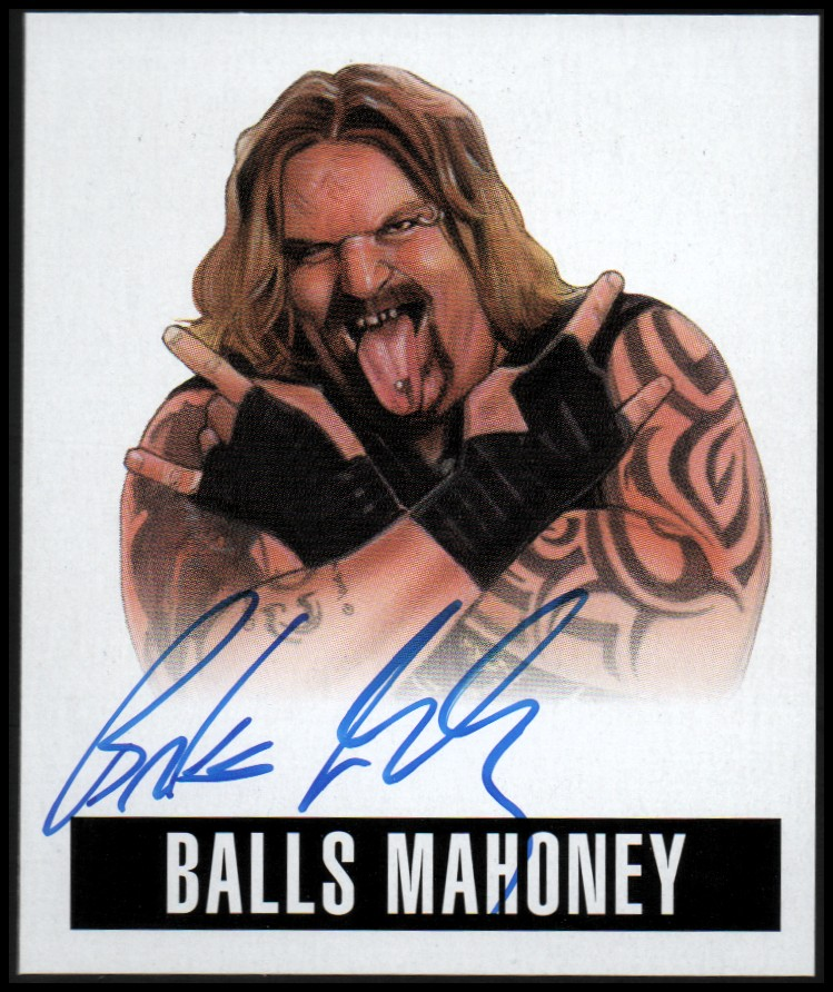 2014 Leaf Originals Wrestling #ABM1 Balls Mahoney