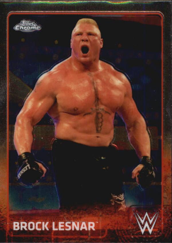 2015 Topps Chrome WWE #12 Brock Lesnar
