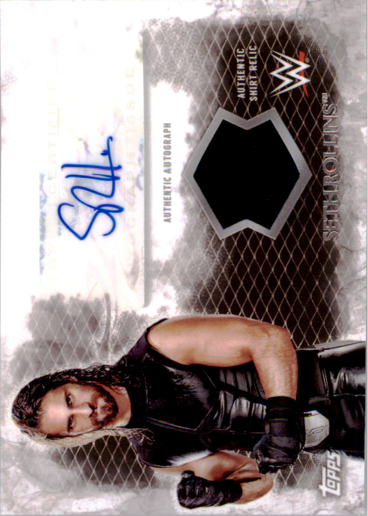 2015 Topps WWE Undisputed Autographed Relics #UARSR Seth Rollins