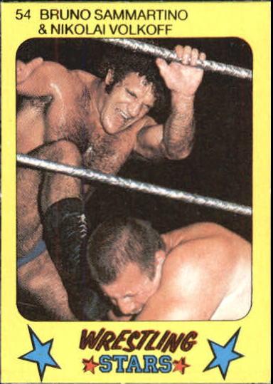 1986 Monty Gum Wrestling #54 B.Sammartino w/N.Volkoff