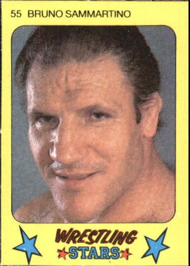1986 Monty Gum Wrestling #55 Bruno Sammartino