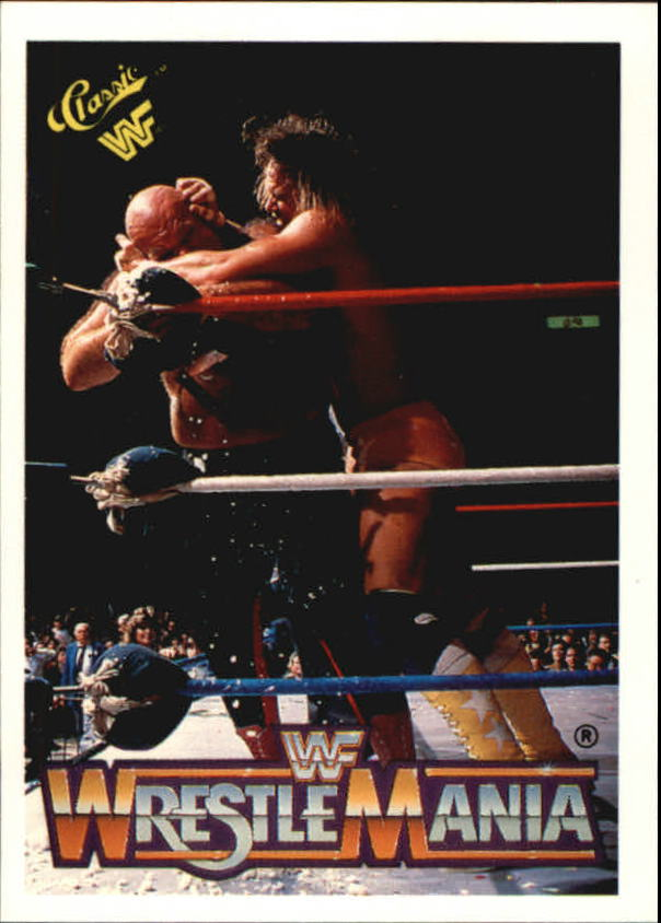 1990 Classic The History of Wrestlemania WWF #13 Macho Man Randy Savage/George The Animal Steele