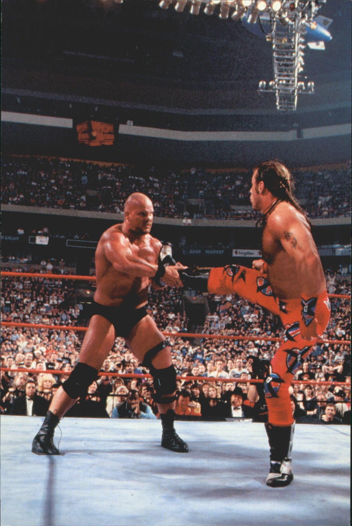 1999 WWF Wrestlemania Live 4 X 6 #24 S.Michaels/Steve Austin