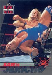 2001 Fleer WWF Raw Is War Raw Is Jericho #RJ4 Jericho/Kurt Angle