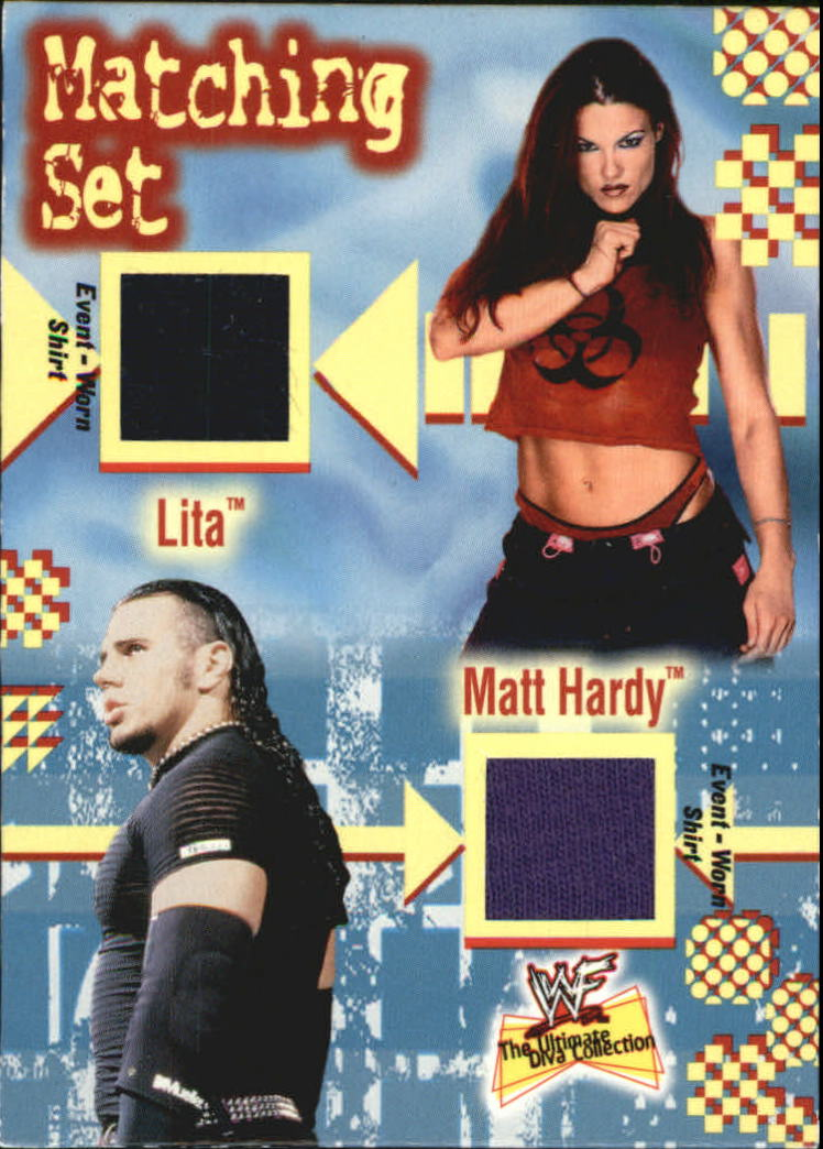 2001 Fleer WWF The Ultimate Diva Collection Matching Set #4 Lita/Matt Hardy