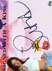 2001 Fleer WWF The Ultimate Diva Collection Signed with a Kiss #4 Lita