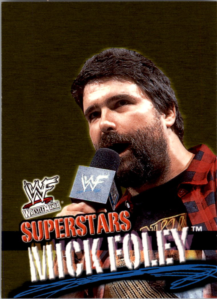 2001 Fleer WWF Wrestlemania #14 Mick Foley