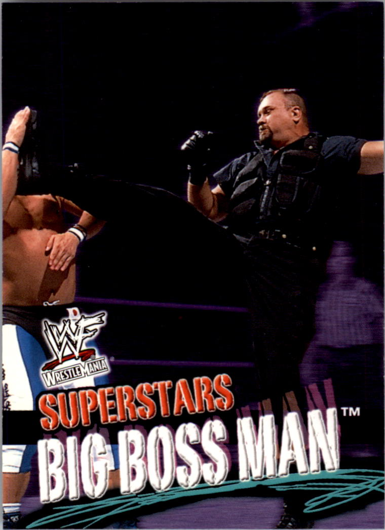 2001 Fleer WWF Wrestlemania #20 Big Boss Man