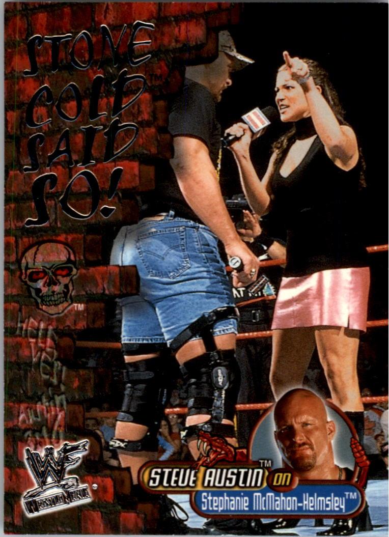 2001 Fleer WWF Wrestlemania Stone Cold Said So #SC10 S.McHahon-Helmsley