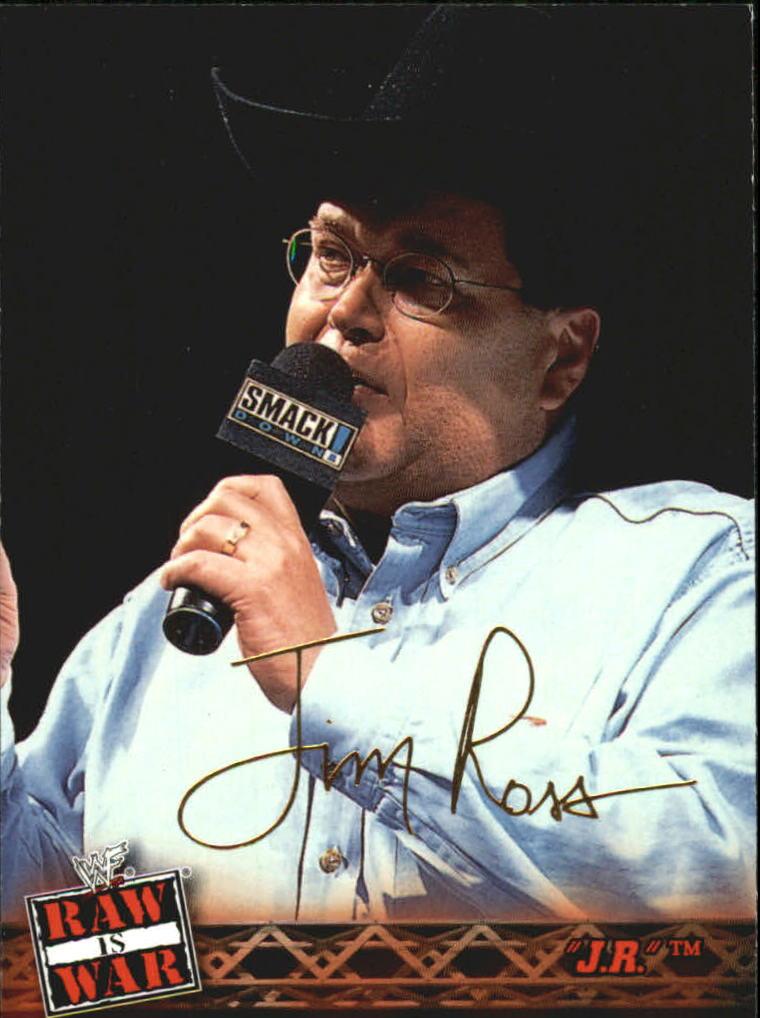 2001 Fleer WWF Raw Is War #8 Jim Ross
