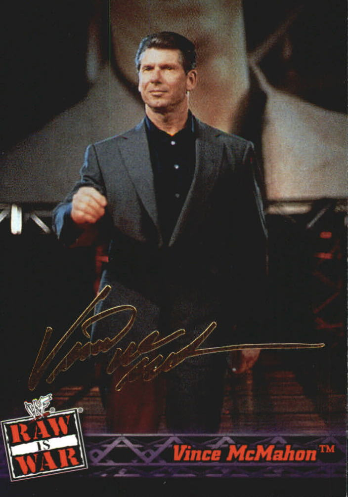 2001 Fleer WWF Raw Is War #15 Vince McMahon