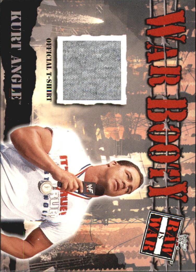 2001 Fleer WWF Raw Is War Booty #WB15 Kurt Angle Shirt