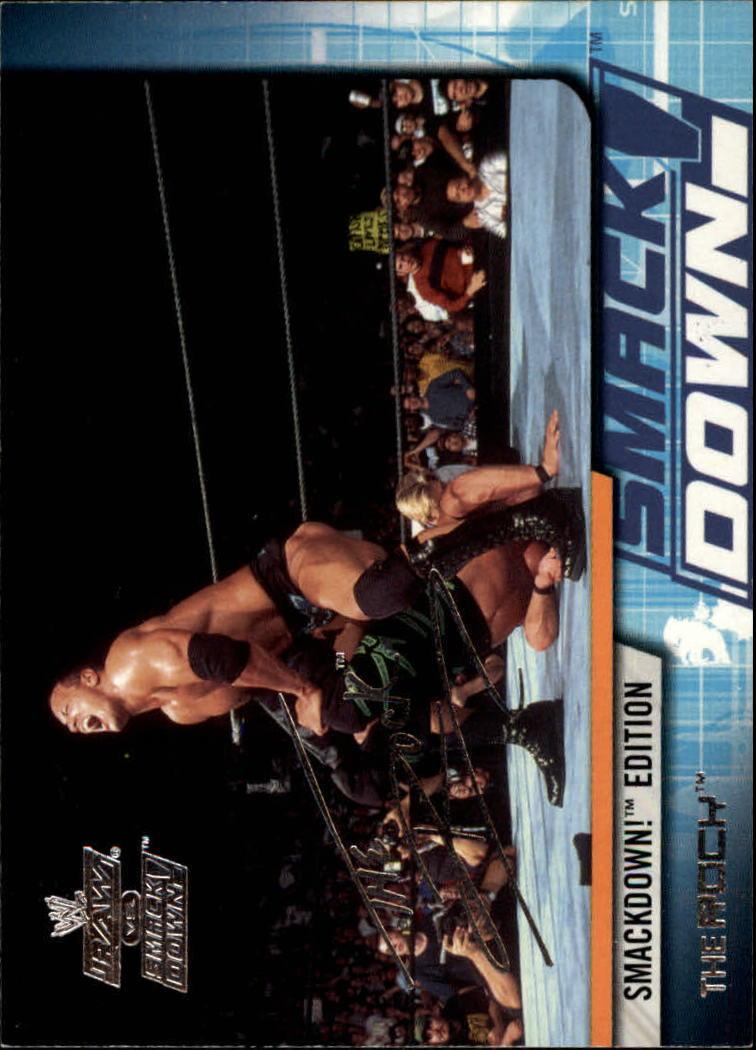 2002 Fleer WWE Raw vs. Smackdown #1 The Rock