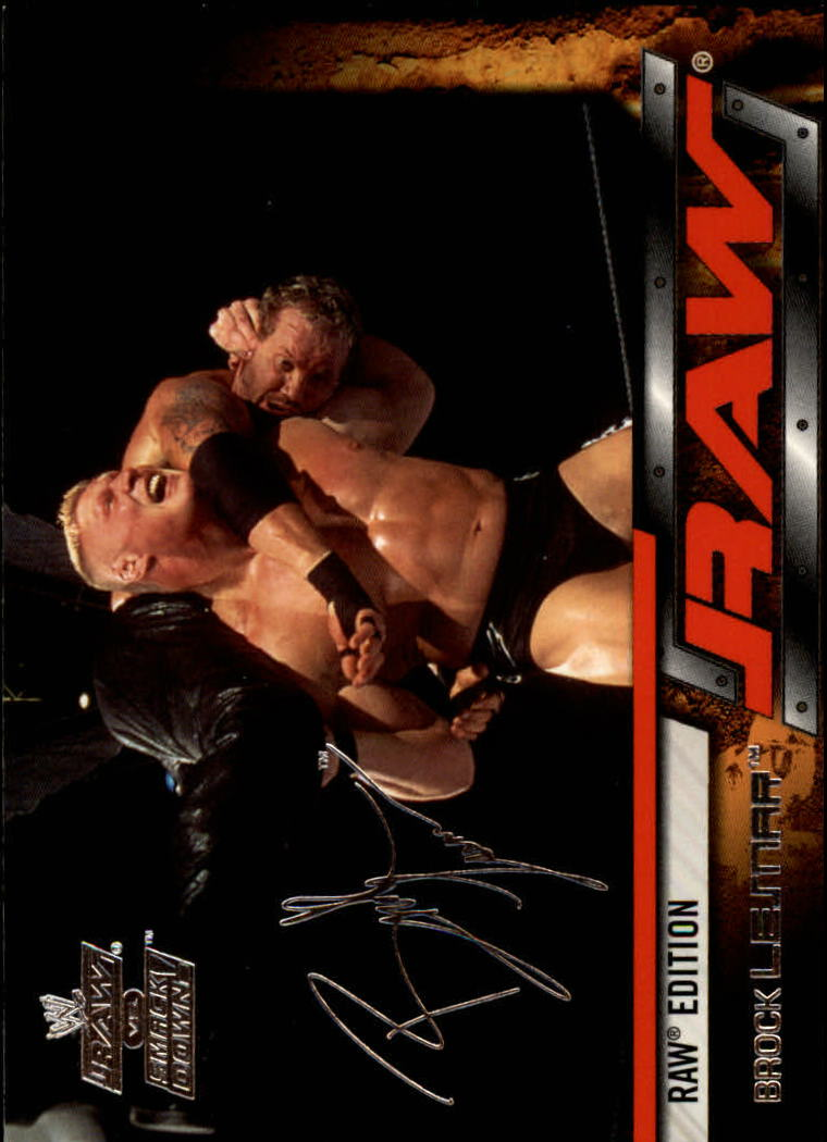 2002 Fleer WWE Raw vs. Smackdown #19 Brock Lesnar