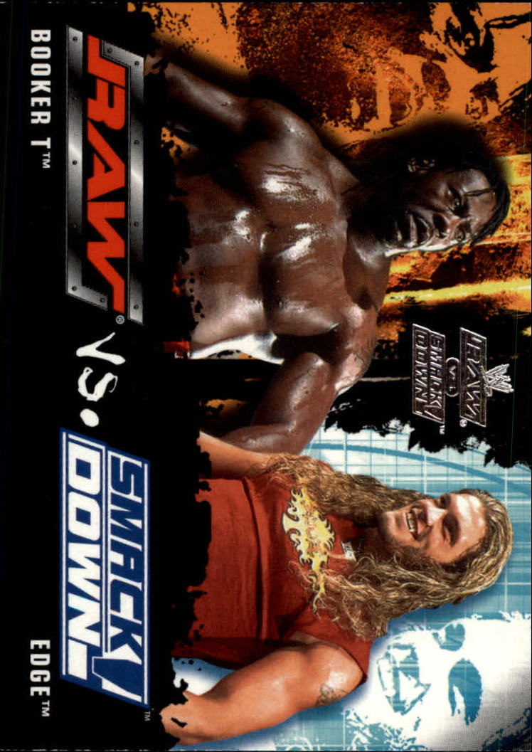 2002 Fleer WWE Raw vs. Smackdown #87 Booker T/Edge