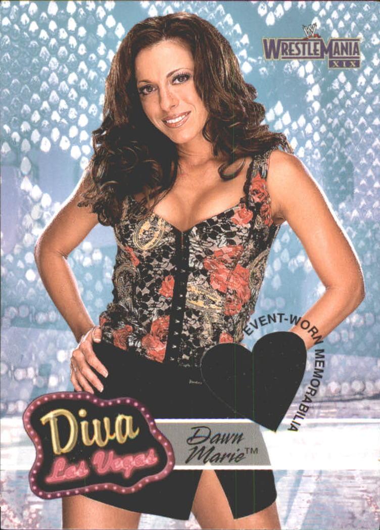 2003 Fleer WWE WrestleMania XIX Diva Las Vegas #DLVDM Dawn Marie