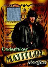 2003 Fleer WWE Aggression Matitude Event Used #MU Undertaker