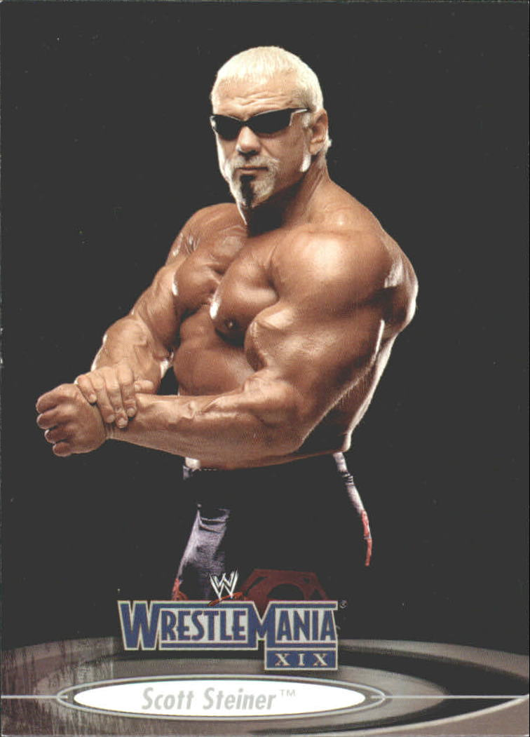 2003 Fleer WWE WrestleMania XIX #1 Scott Steiner