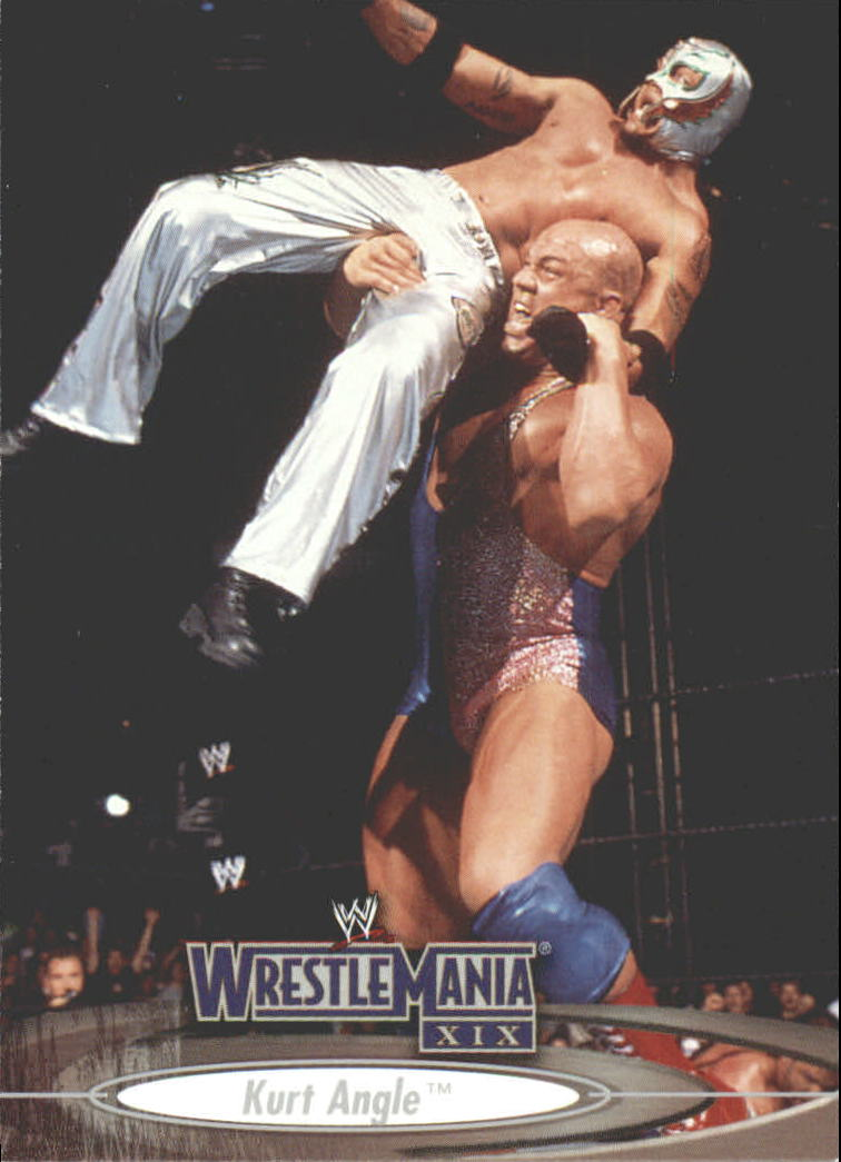 2003 Fleer WWE WrestleMania XIX #4 Kurt Angle