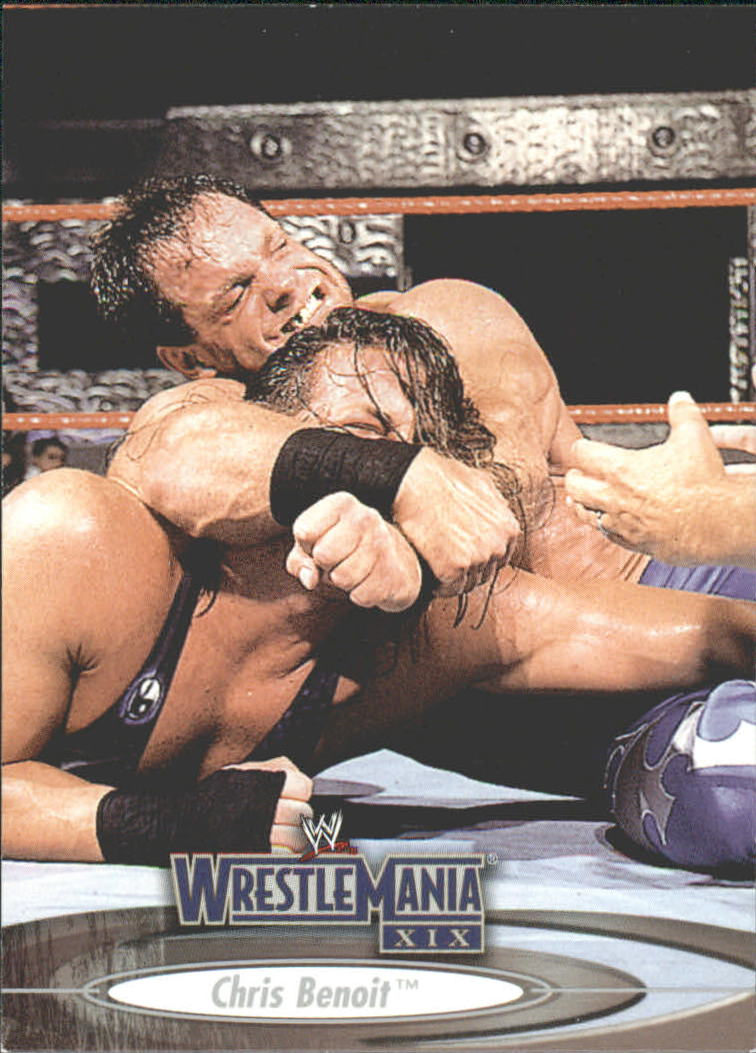 2003 Fleer WWE WrestleMania XIX #6 Chris Benoit