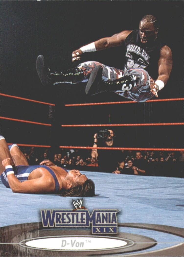 2003 Fleer WWE WrestleMania XIX #18 D-Von Dudley