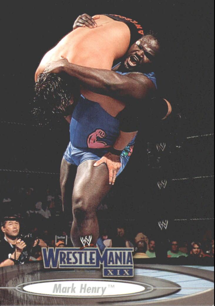 2003 Fleer WWE WrestleMania XIX #36 Mark Henry
