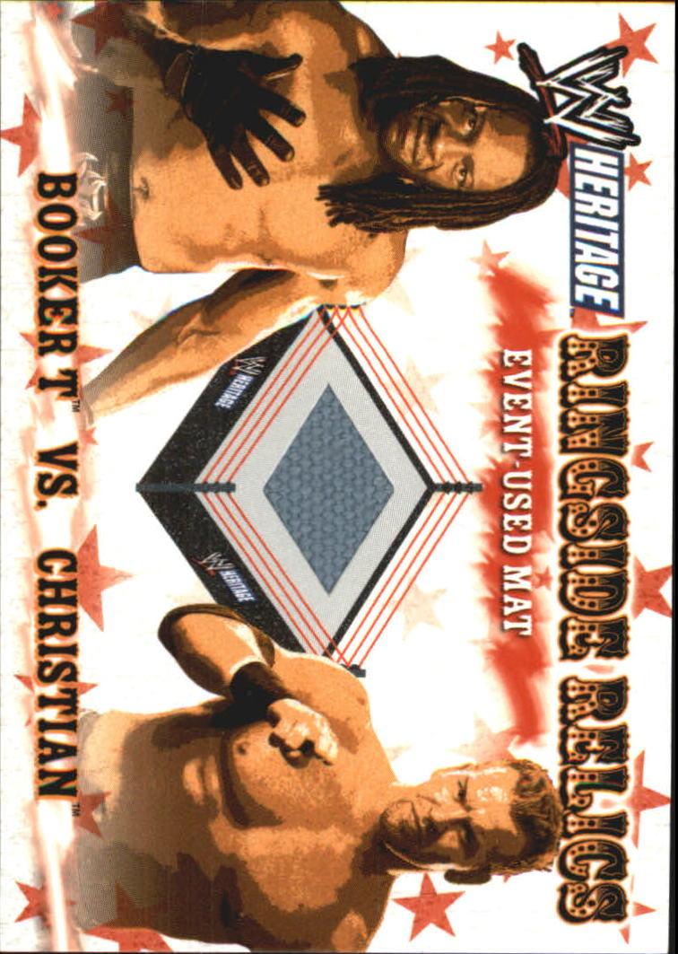 2005 Topps Heritage WWE Ringside Relics  #11 Booker T/Christian Mat
