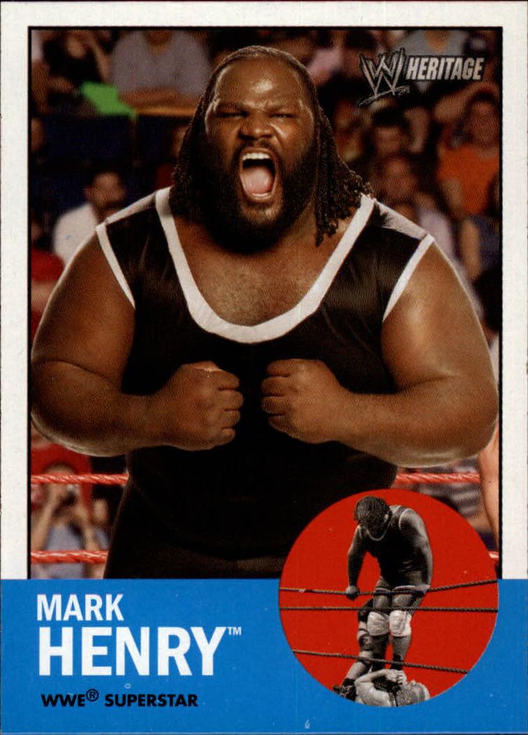 2006 Topps Heritage II WWE #15 Mark Henry