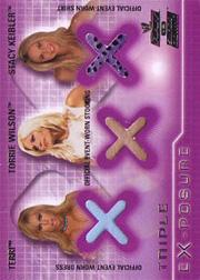 2002 Fleer WWE Raw vs. Smackdown Triple Exposure #3 Terri/Torrie Wilson/Stacey Keibler