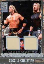 2002 Fleer WWF All Access Match Makers Memorabilia #MMEC Edge & Christian