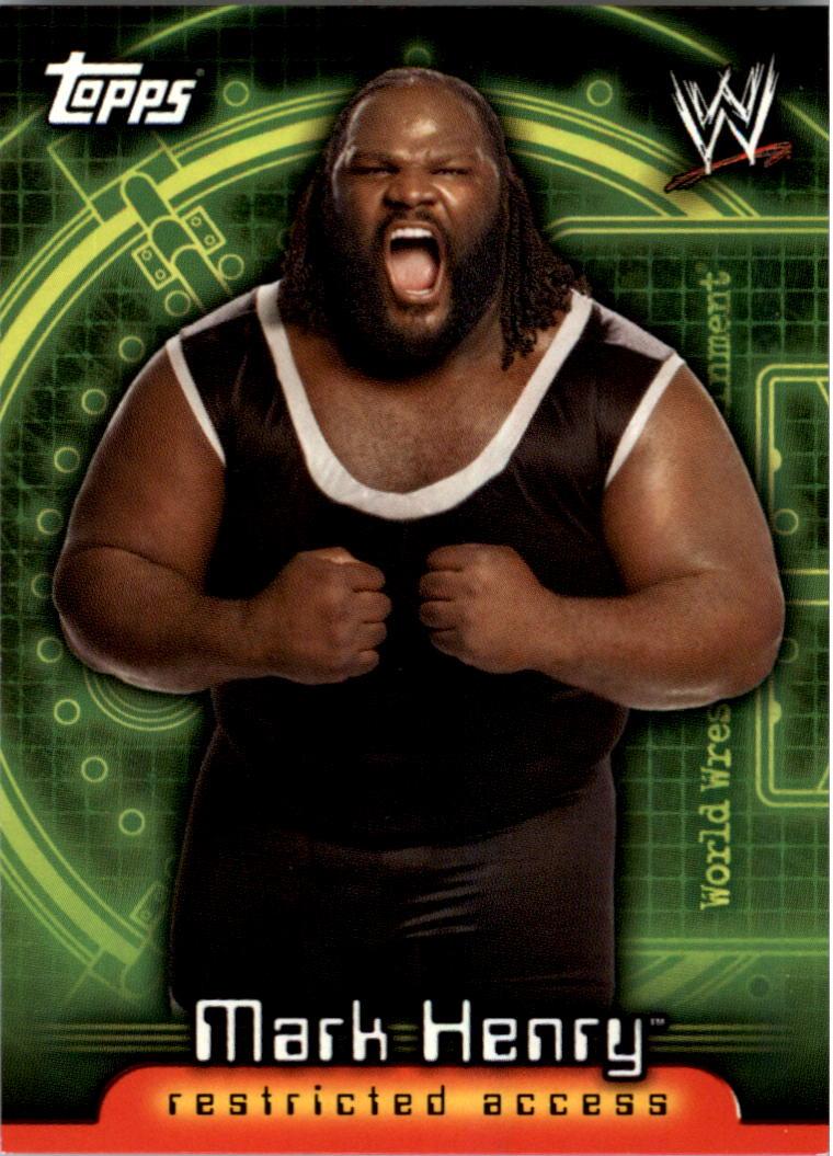 2006 Topps WWE Insider #33 Mark Henry