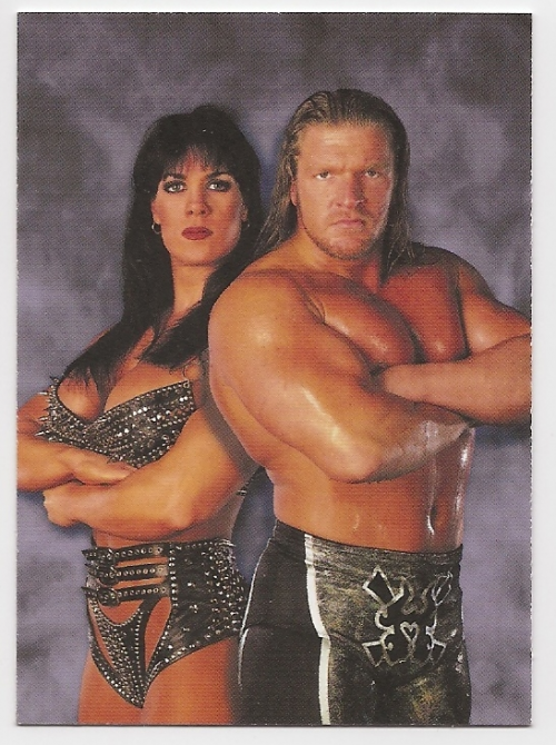 1999 Comic Images WWF Smackdown #47 Triple H/Chyna