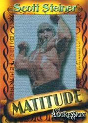 2003 Fleer WWE Aggression Matitude Event Used Jumbo Images #MSS Scott Steiner