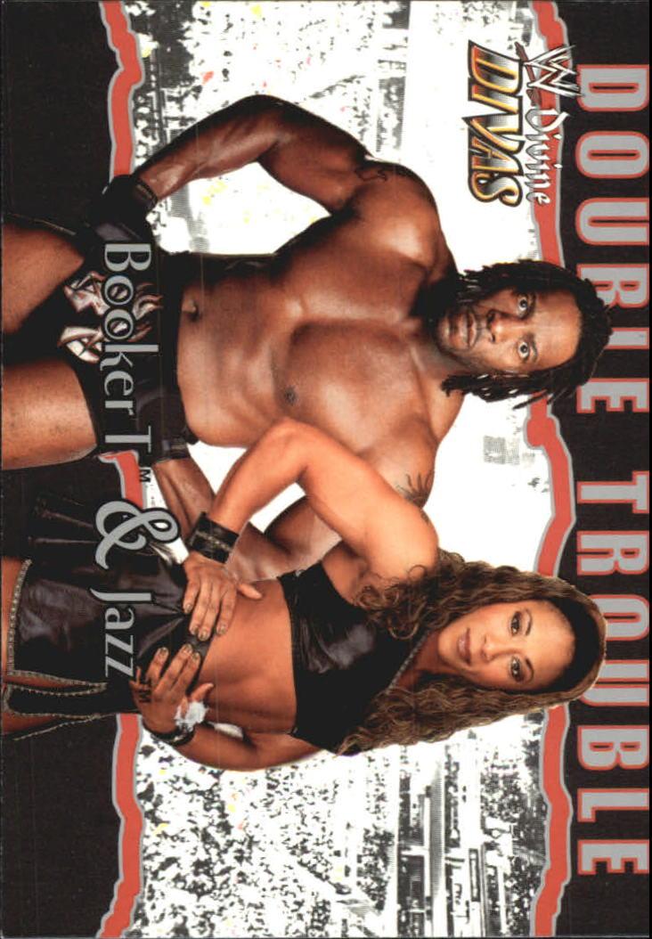 2003 Fleer WWE Divine Divas #87 Booker T/Jazz DT