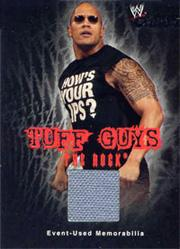 2004 Fleer WWE Chaos Tuff Guys Event Used Mat #TGTR The Rock