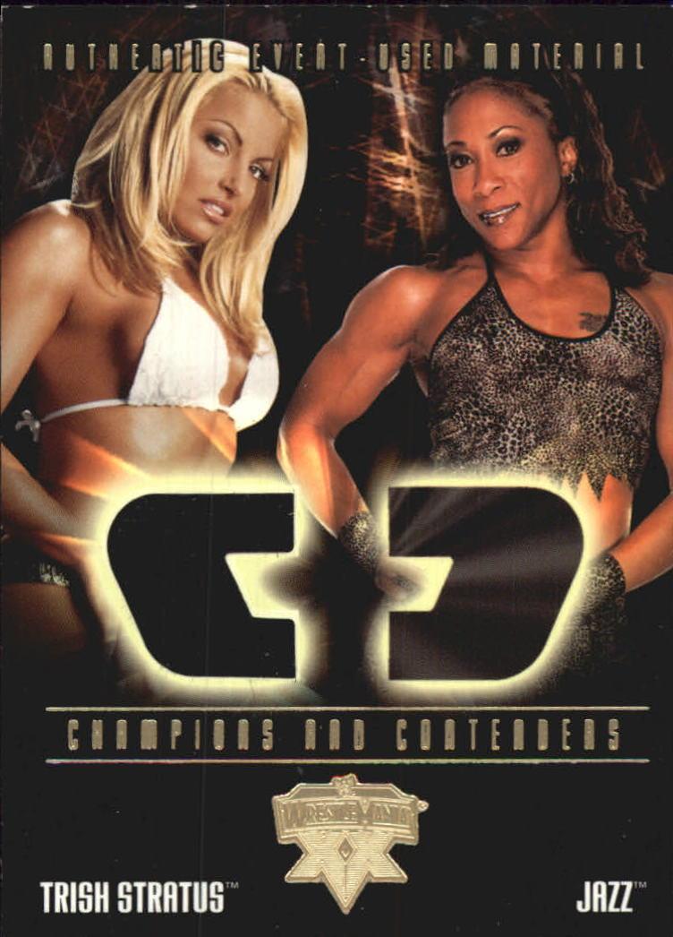 2004 Fleer WWE WrestleMania XX Champions And Contenders Memorabilia #CCSTS Trish Stratus