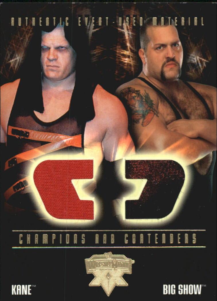 2004 Fleer WWE WrestleMania XX Champions And Contenders Memorabilia Dual #CCDK/BS Kane/Big Show
