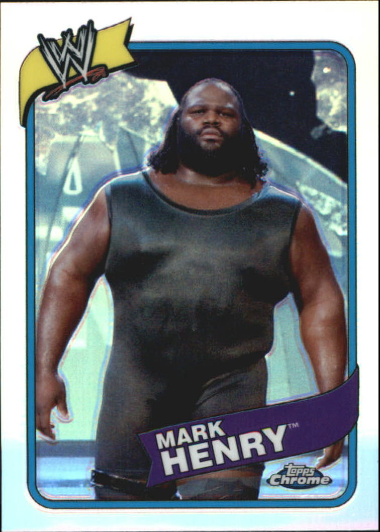 2008 Topps Heritage III Chrome WWE Refractors #20 Mark Henry