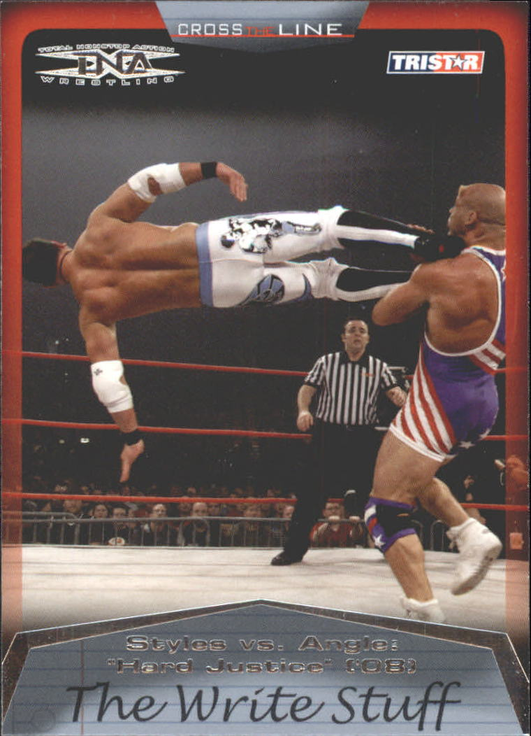 2008 TriStar TNA Cross The Line #87 A.J. Styles vs. Kurt Angle
