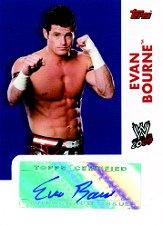 2009 Topps WWE Autographs #EB Evan Bourne