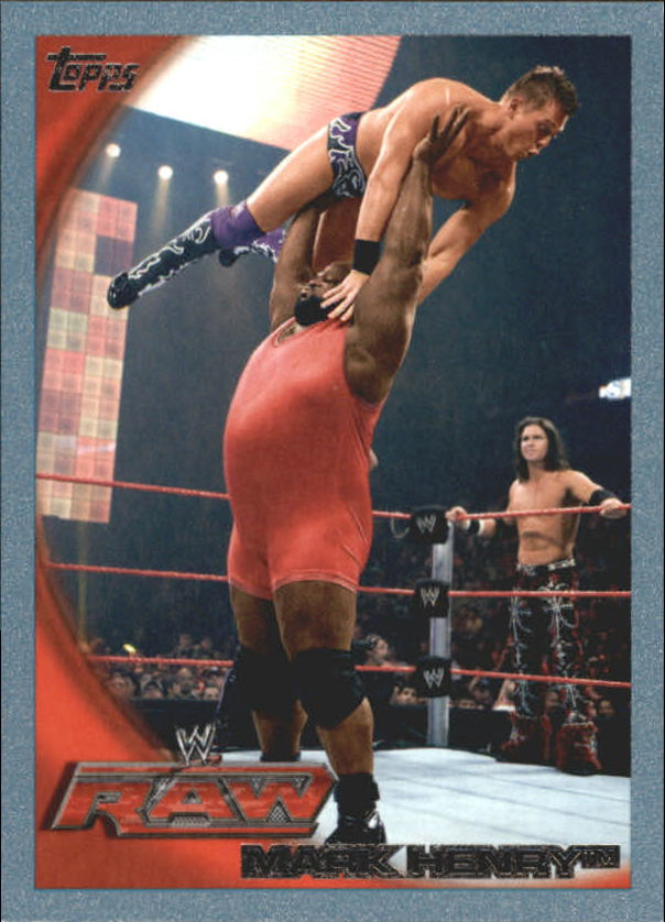 2010 Topps WWE Blue #18 Mark Henry