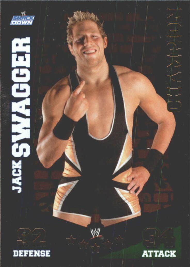 2010 Topps Slam Attax Mayhem WWE Champions #1 Jack Swagger