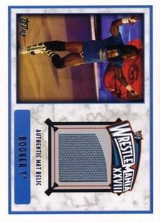 2012 Topps WWE WrestleMania XXVIII Mat Relics #3 Booker T